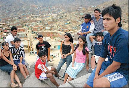 jovenes peruanos